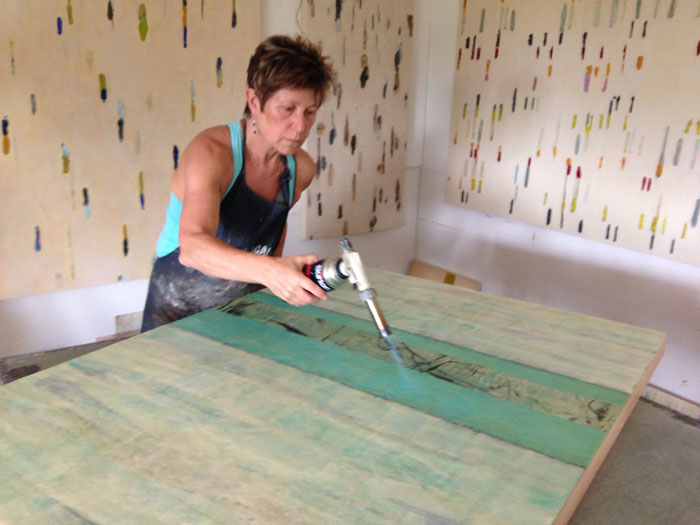Tracey Adams in her studio