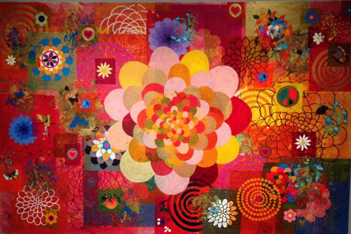 Beatriz Milhazes, 2004, acrylic on canvas