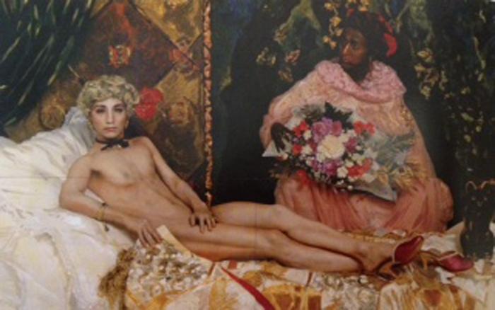 Portrait, Morimura, 1988, Chromogenic print with acyrlic paint and gel