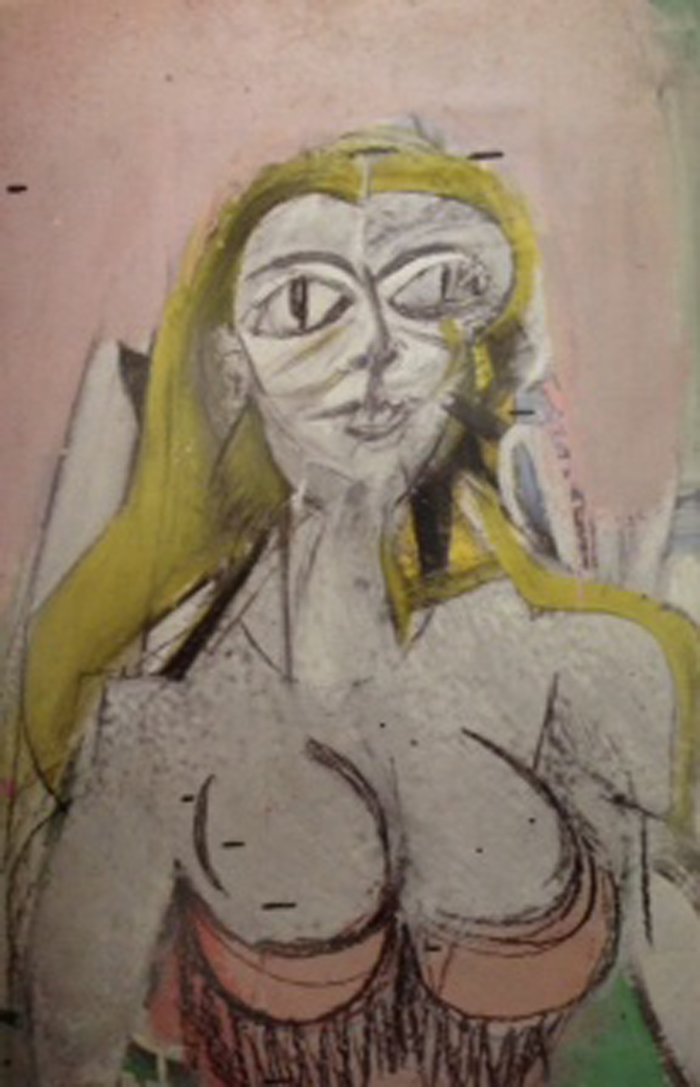 Willem DeKooning, Woman, 1950, oil on paper