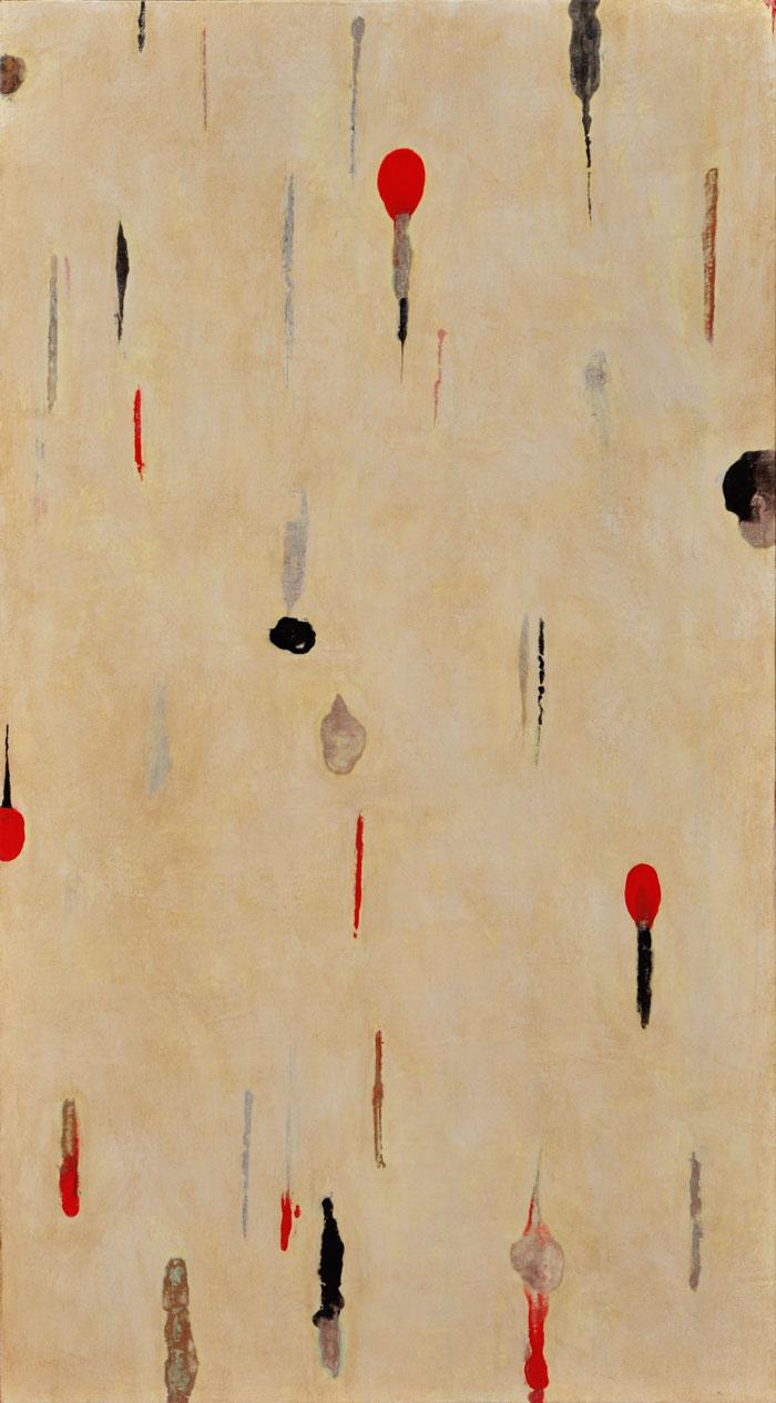 Lumenis 15, encaustic monotype and acrylic glazes on panel, 36x30