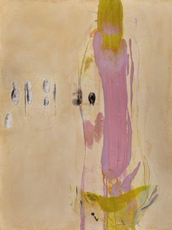 Lumenis 16, encaustic monotype and acrylic glazes on panel, 24x16